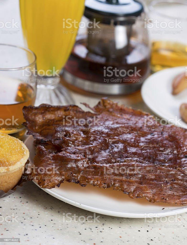 pork jerky royalty-free stock photo