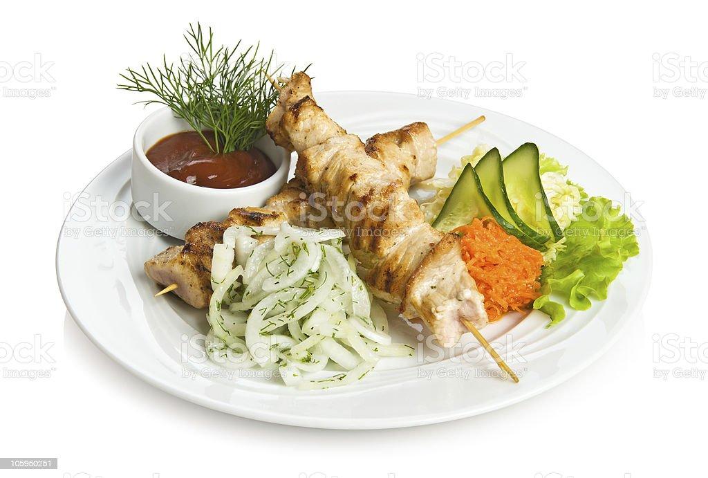 Pork kebab royalty-free stock photo