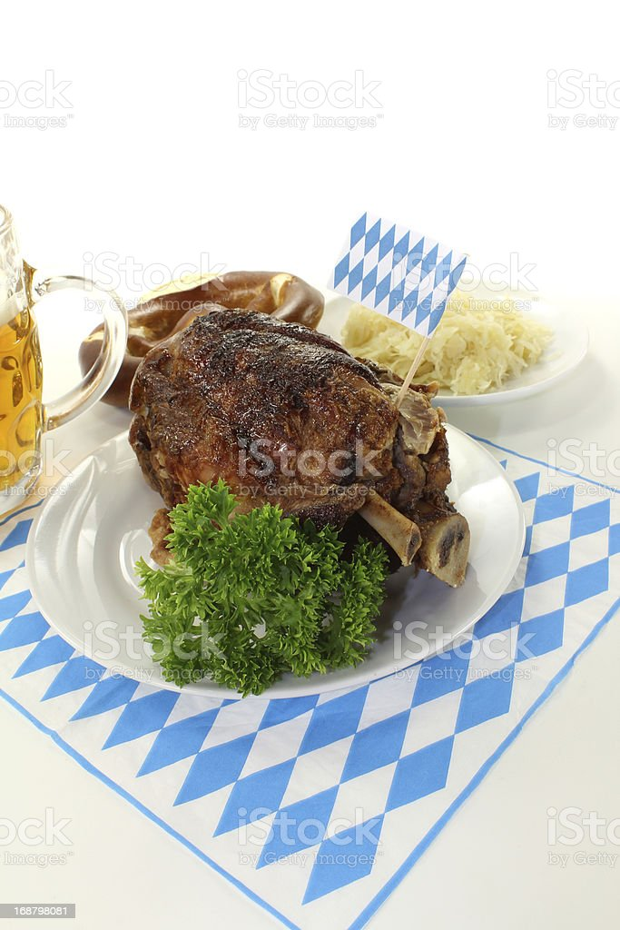 pork knuckle royalty-free stock photo