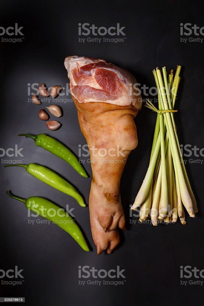 Pork leg stock photo