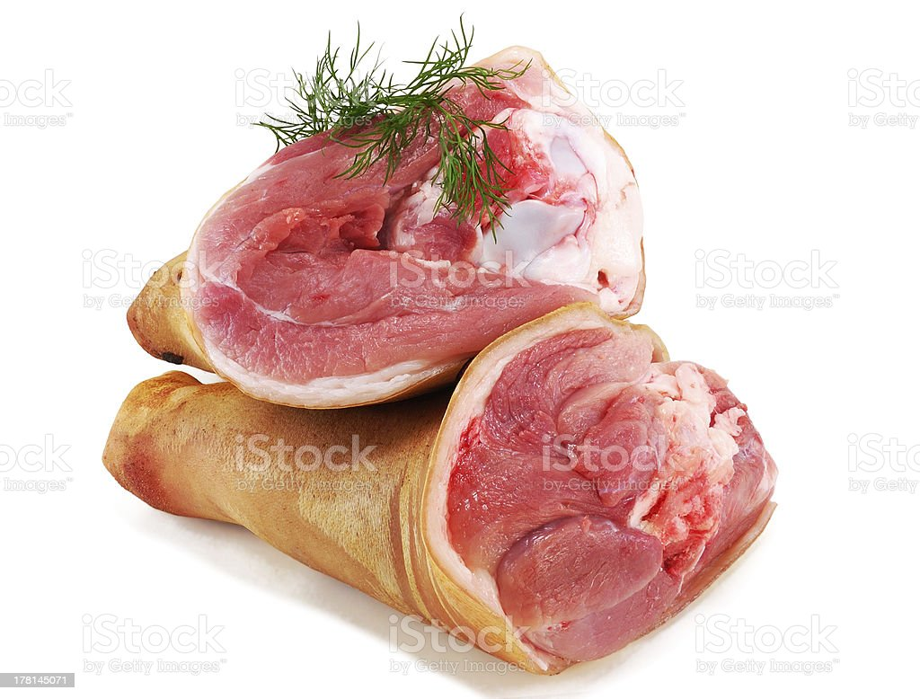 pork leg shank with fennel royalty-free stock photo