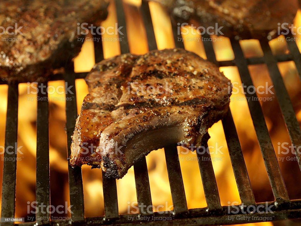 BBQ Pork Loin Centre Cut Chop 3 stock photo