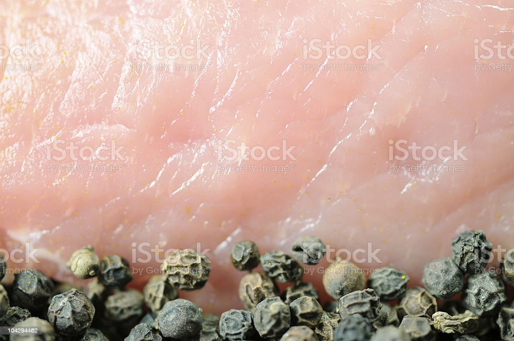 Pork Loin Pieces royalty-free stock photo