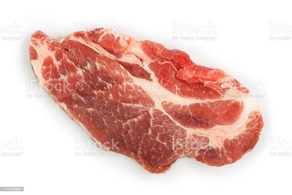 Pork Neck Chops royalty-free stock photo
