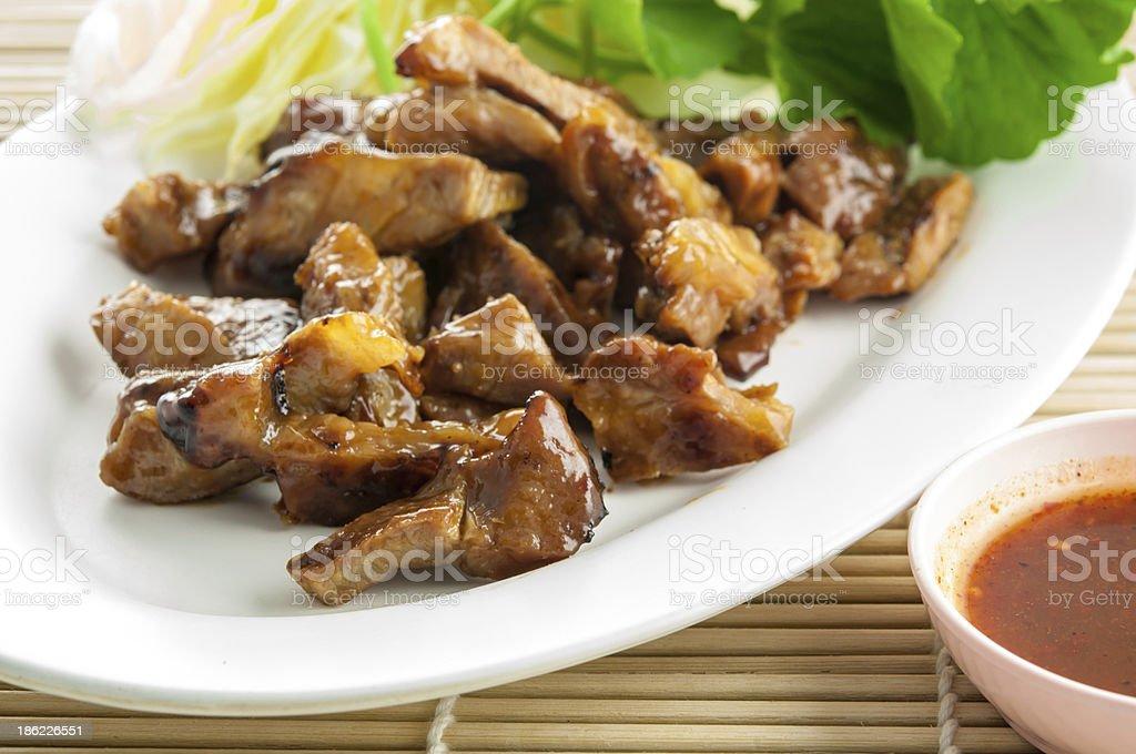 Pork neck grilled stock photo