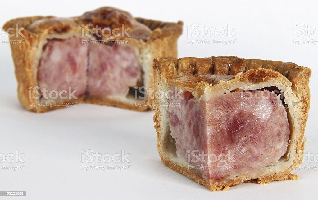 Pork Pie Isolated stock photo