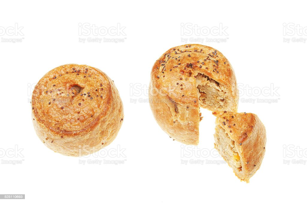 Pork pies stock photo