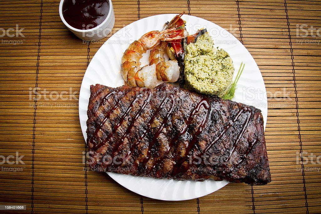 Pork Ribs and Shrimp royalty-free stock photo