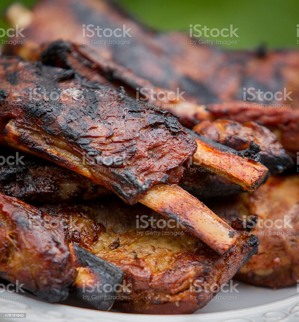Pork Ribs Off The Grill stock photo