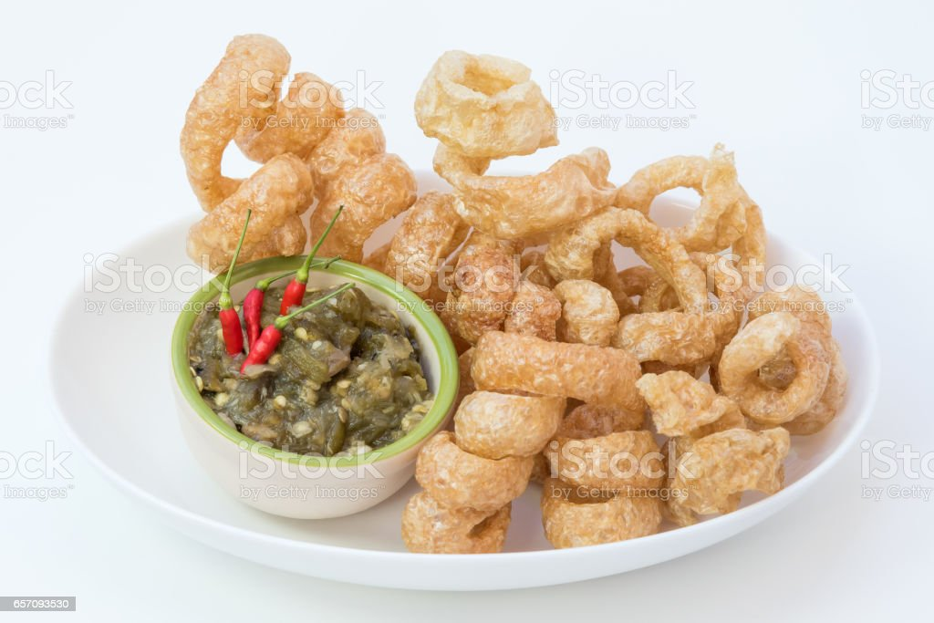 Pork rinds stock photo