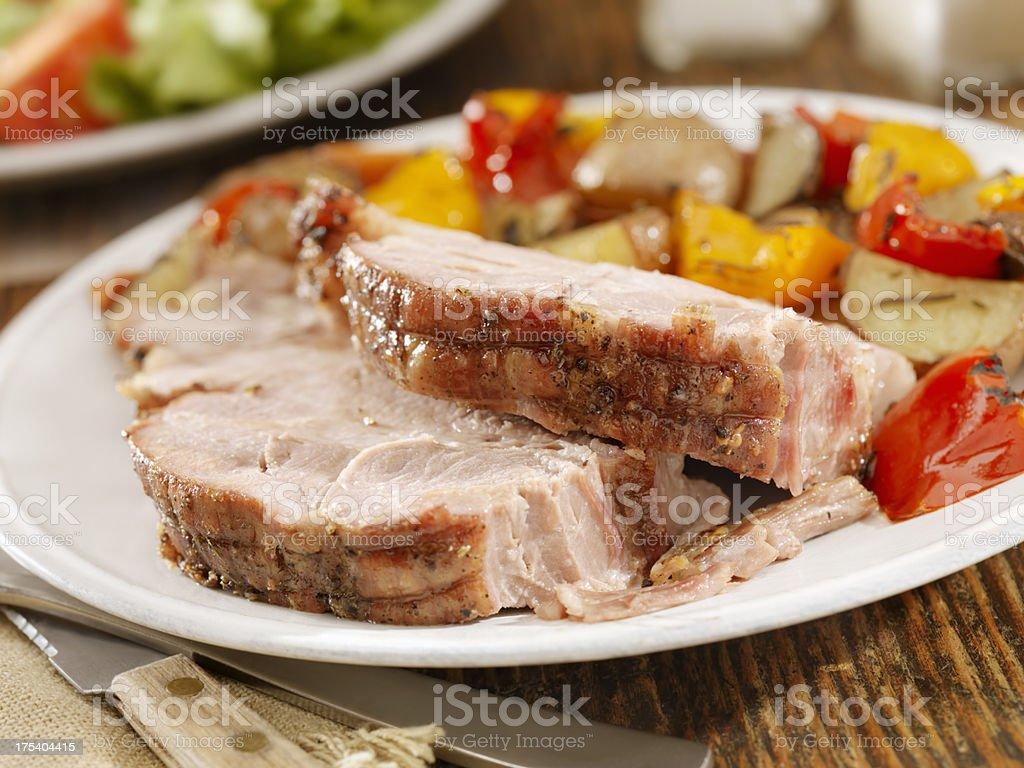 Pork Roast Dinner stock photo
