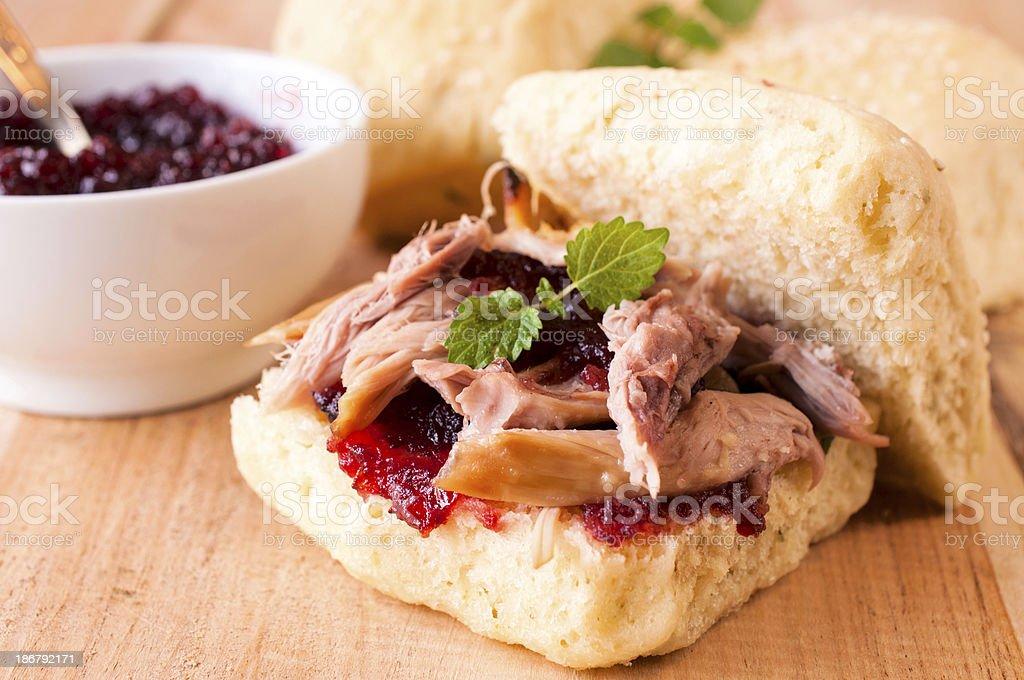 Pork sandwich royalty-free stock photo