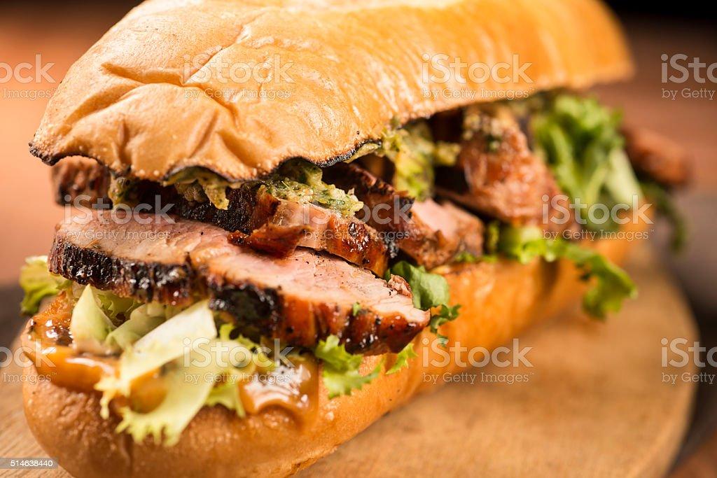 Pork Sandwich stock photo