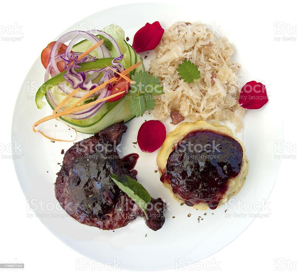 pork  sauerkraut stock photo