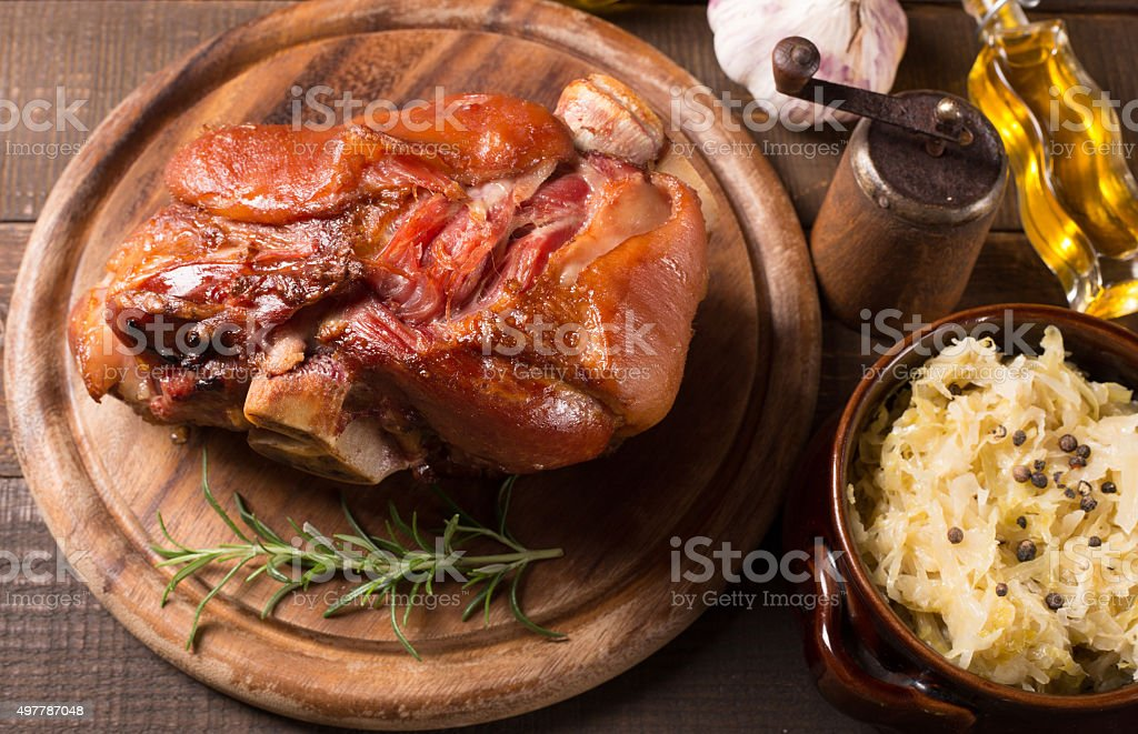 pork shank stock photo