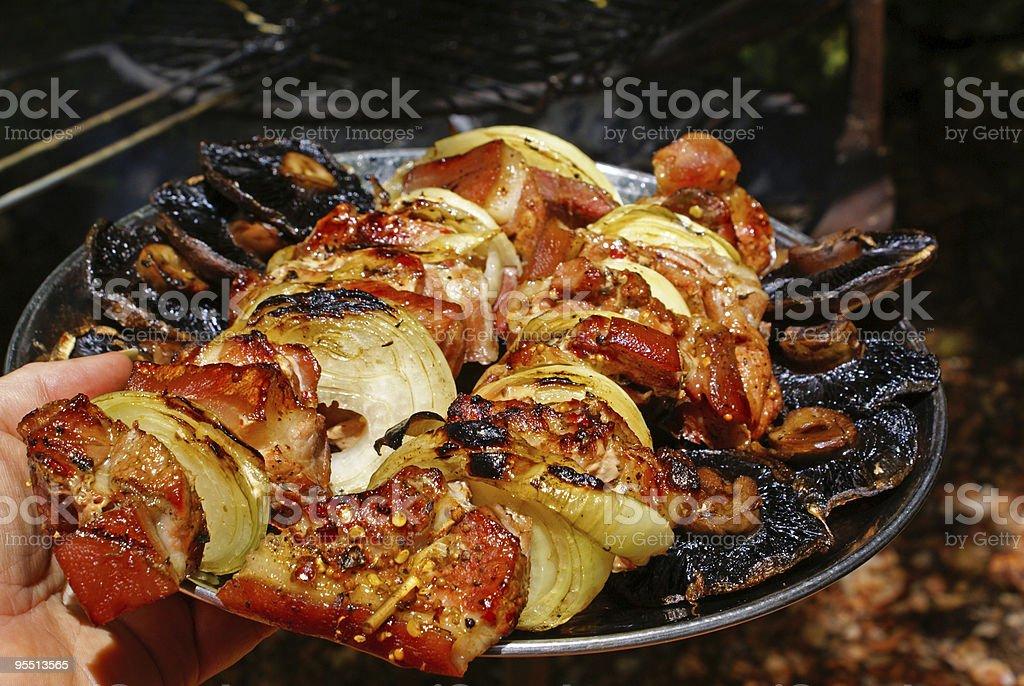 Pork shashliks royalty-free stock photo