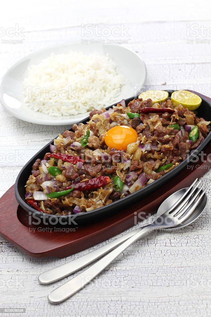 pork sisig, filipino cuisine stock photo
