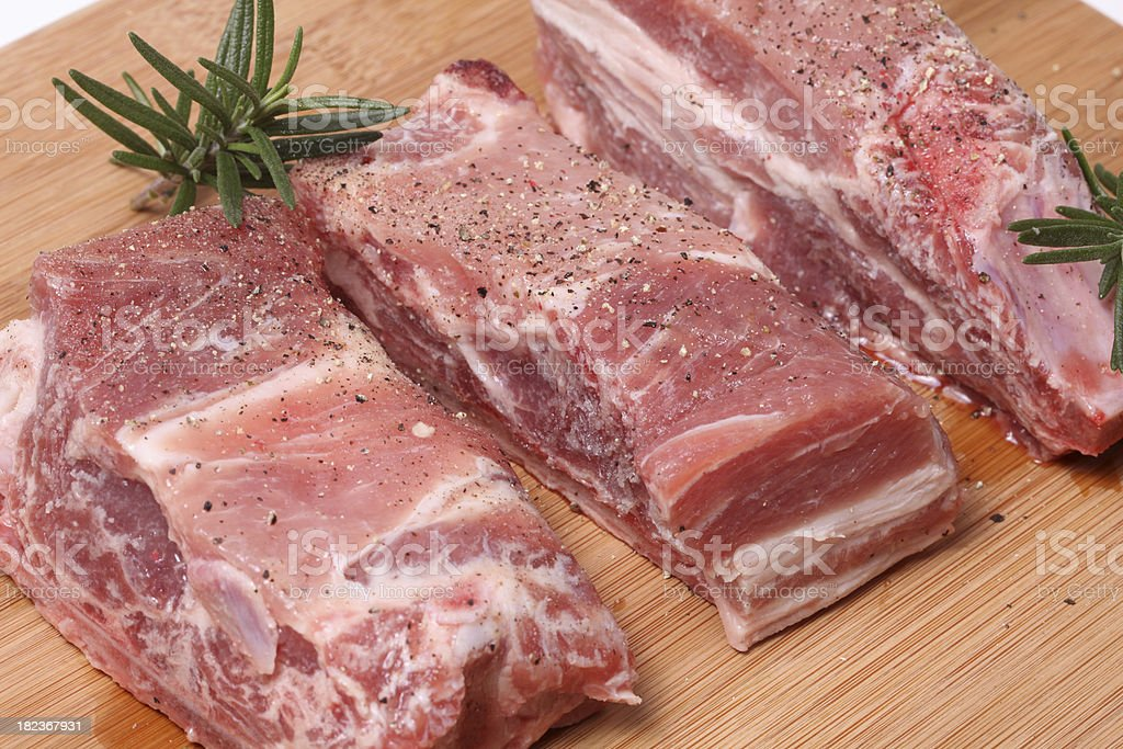 Pork spare ribs royalty-free stock photo