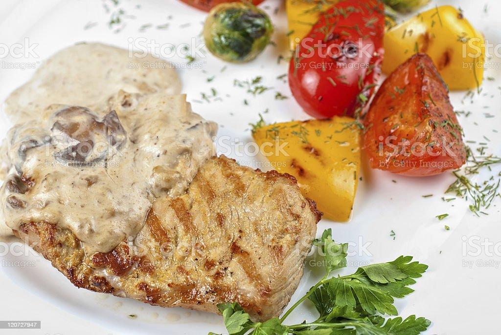 pork steak royalty-free stock photo