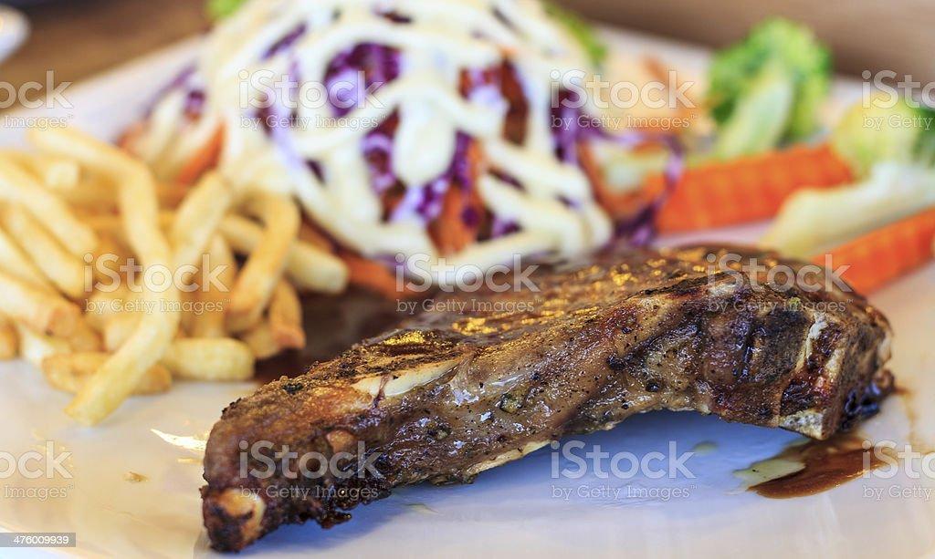 Pork steak with black pepper. royalty-free stock photo