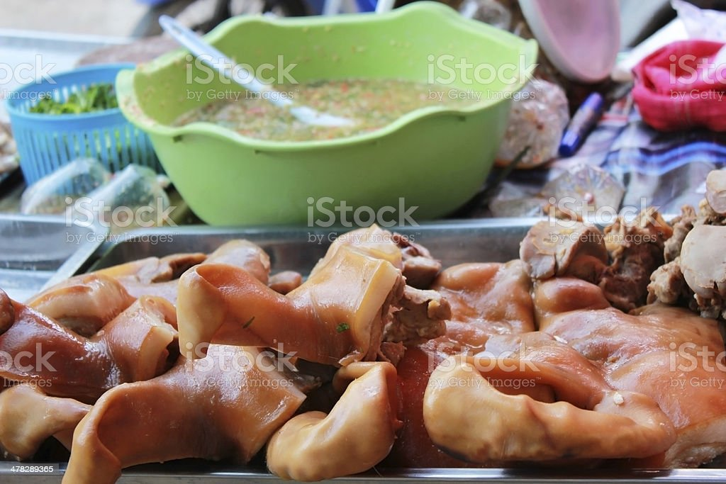 Pork stew Thai Food. royalty-free stock photo
