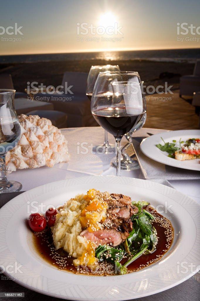 Pork Tenderloin Dinner stock photo