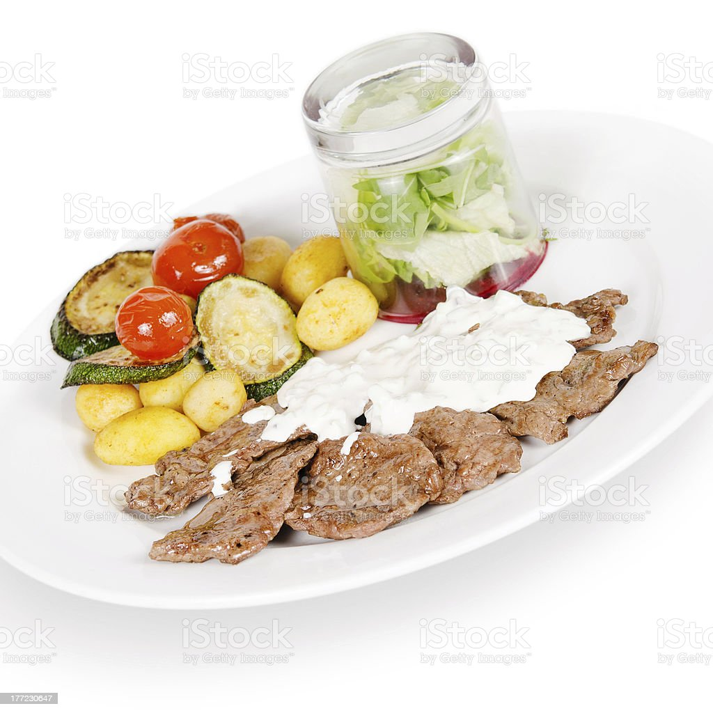 pork with vegetables royalty-free stock photo