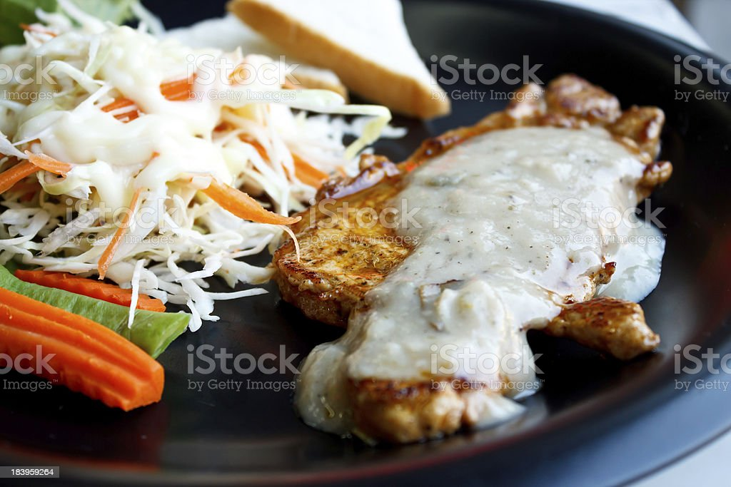 Porkchop and vegetables royalty-free stock photo