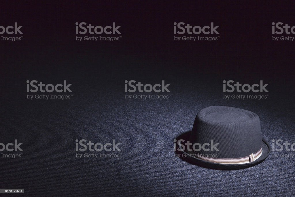 Porkpie Hat On The Carpet stock photo