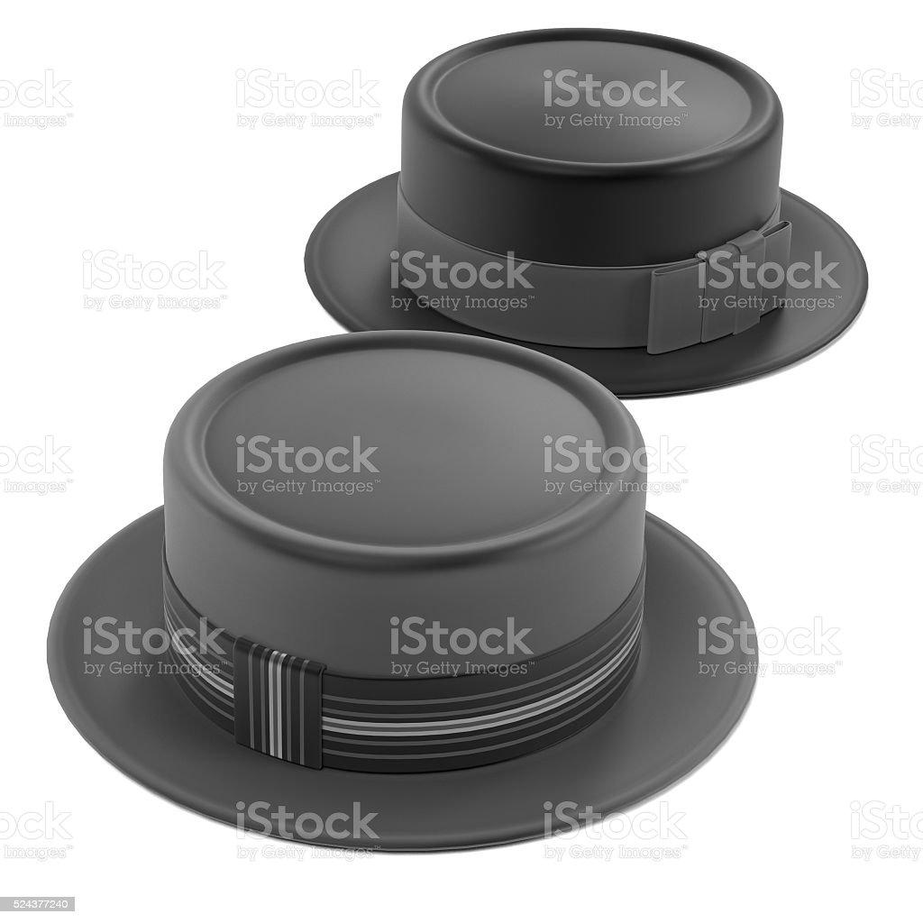 porkpie hats stock photo