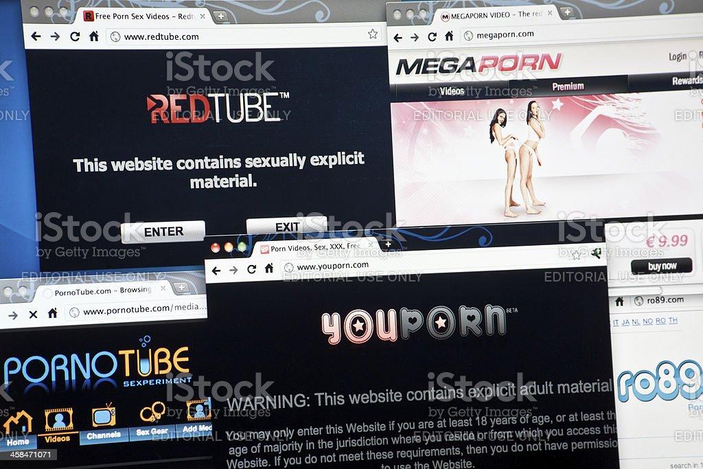 Porn Webistes stock photo