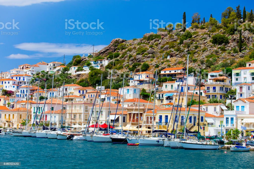 Poros, Greece stock photo
