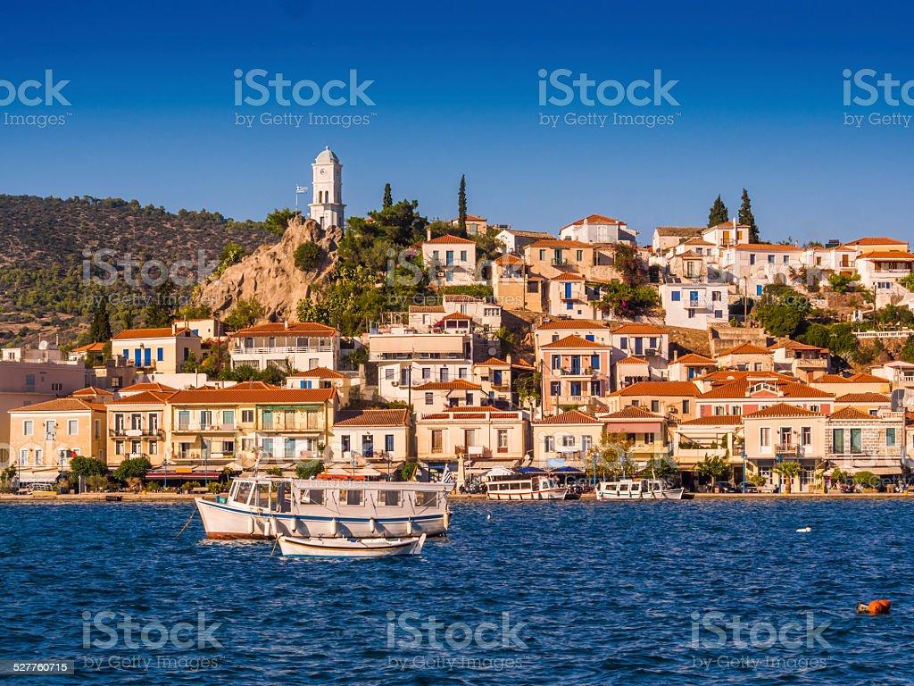 Poros, Greek island stock photo