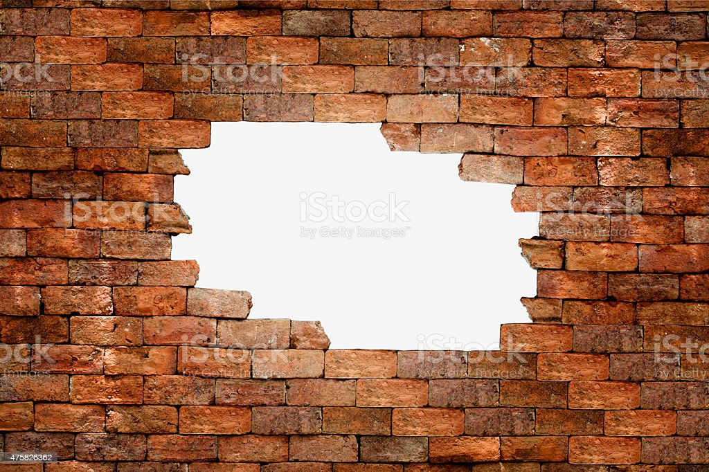porous wall for background stock photo