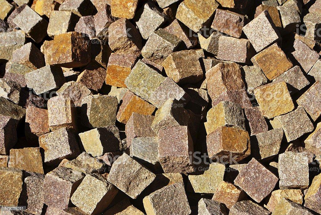 porphyry cubes royalty-free stock photo
