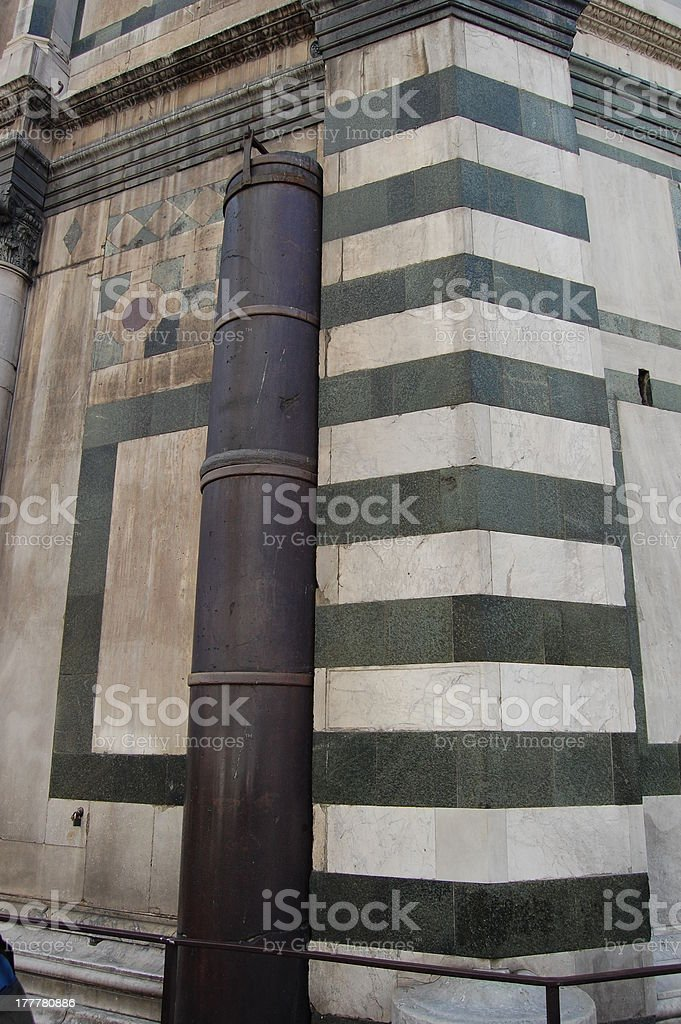 Porphyry Pisan Column, Florence Baptistery stock photo