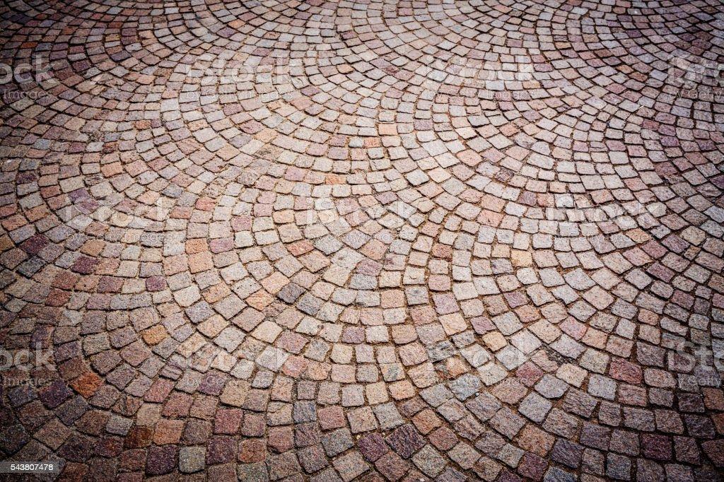 Porphyry Sampietrini Flooring Texture stock photo