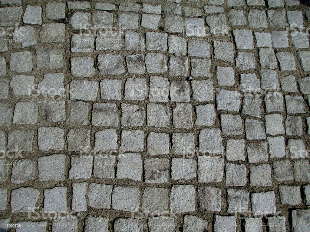 Porphyry Sampietrini Flooring Texture, Square stock photo