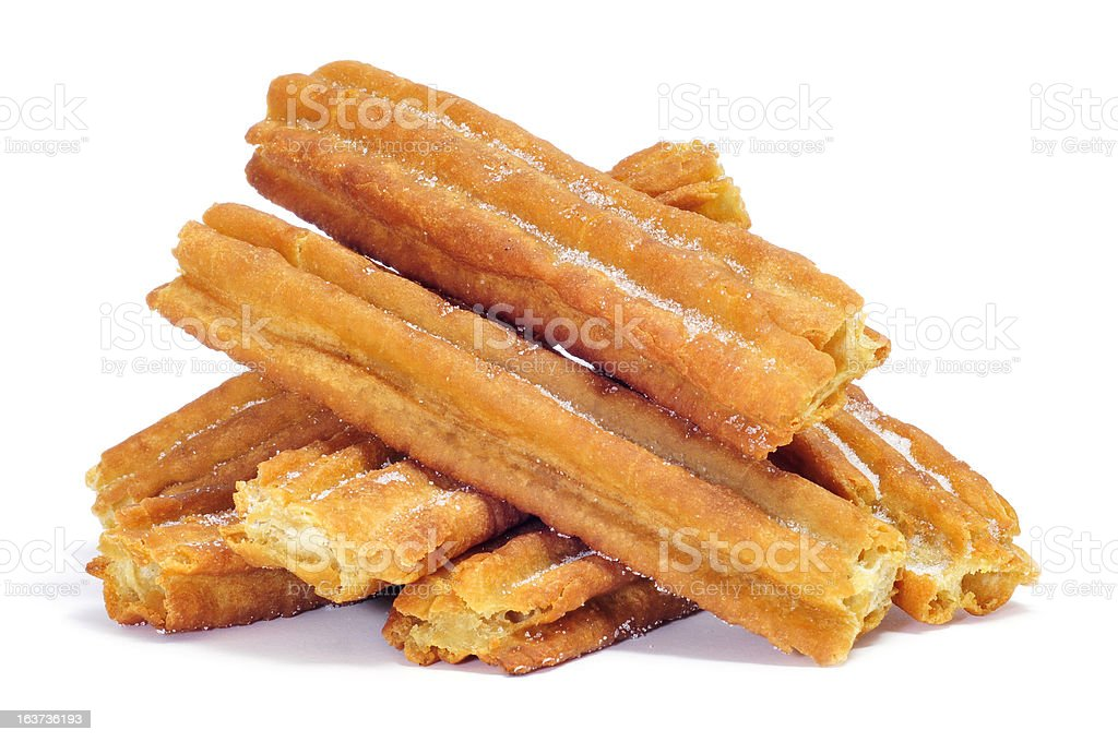 porras, thick churros typical of Spain stock photo