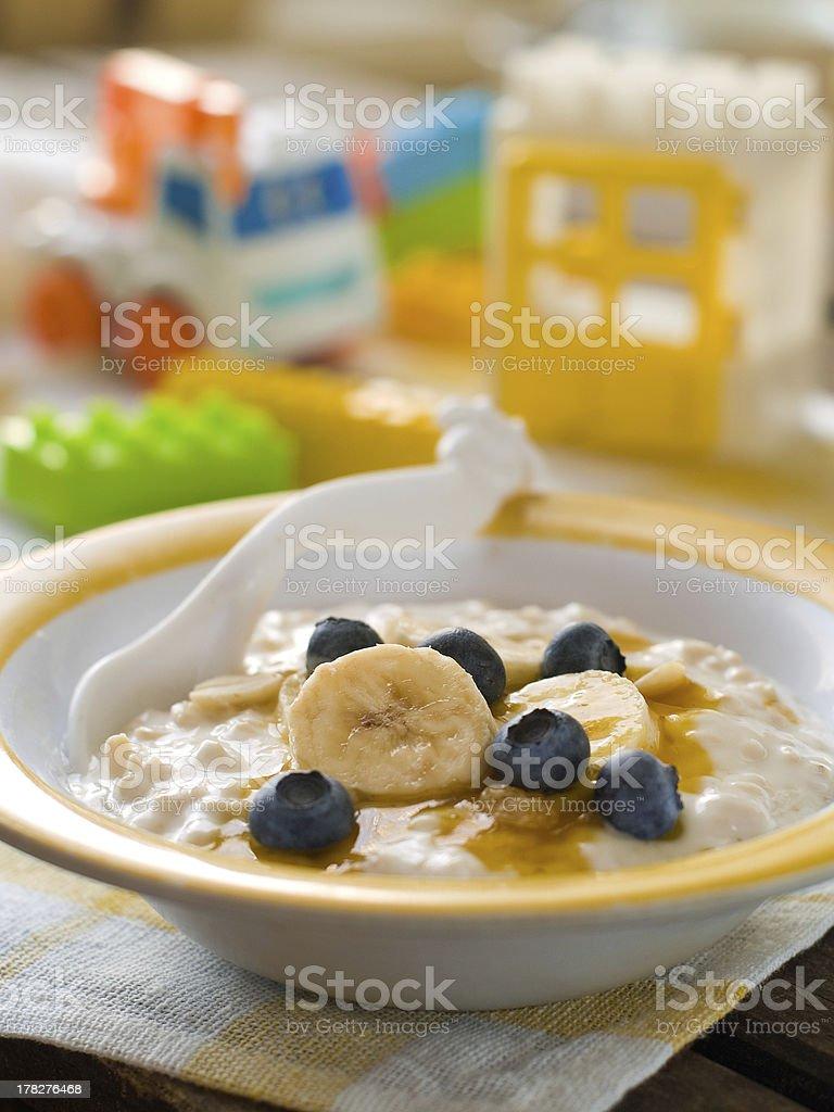 porridge for baby royalty-free stock photo