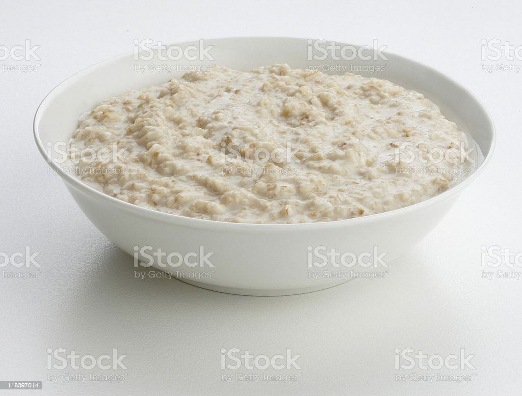 porridge oats bowl stock photo