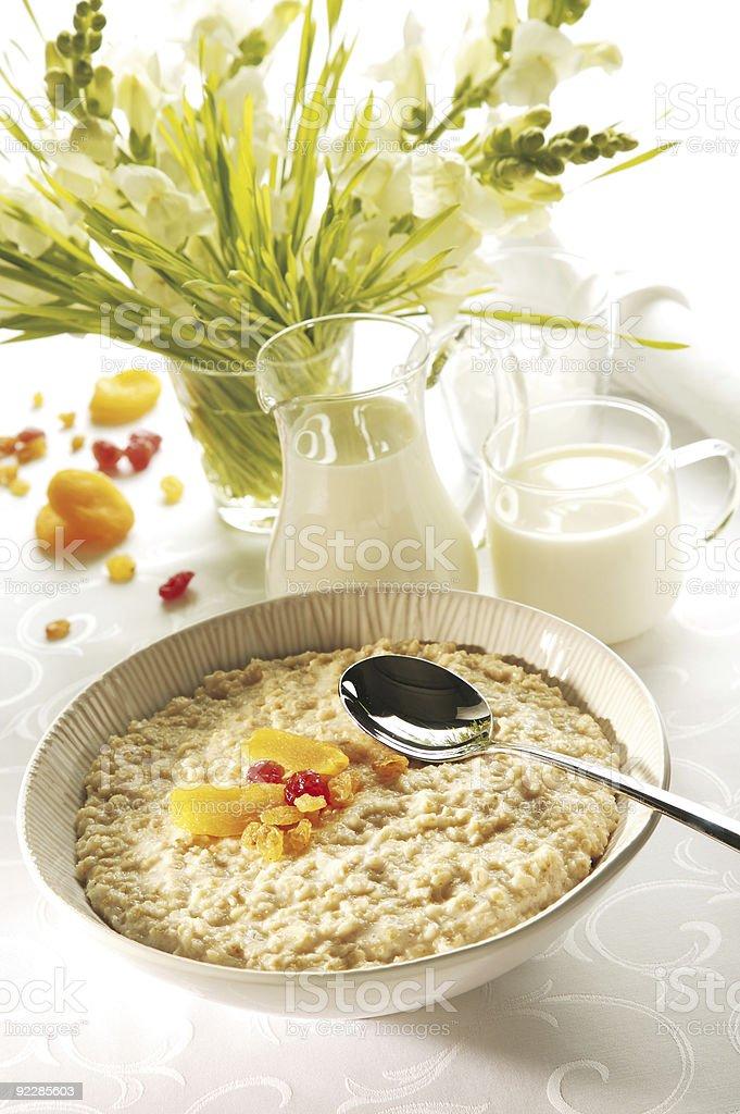Porridge with spoon royalty-free stock photo