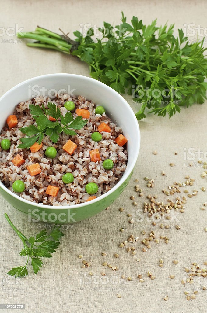 porridge avec des légumes photo libre de droits