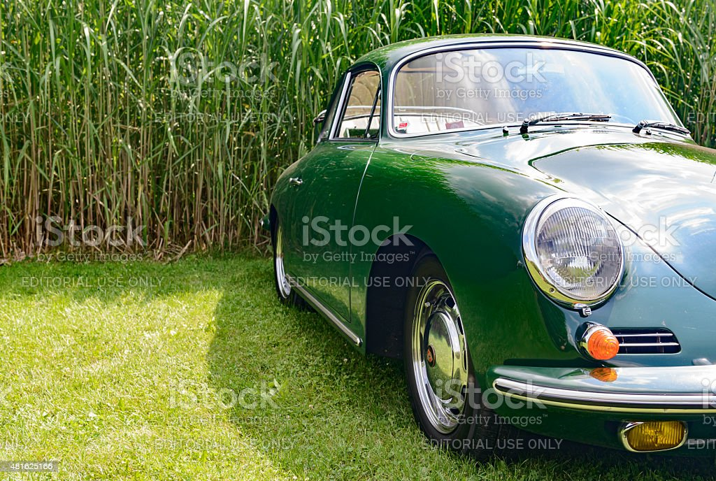 Porsche 356 classic coupe sports car stock photo
