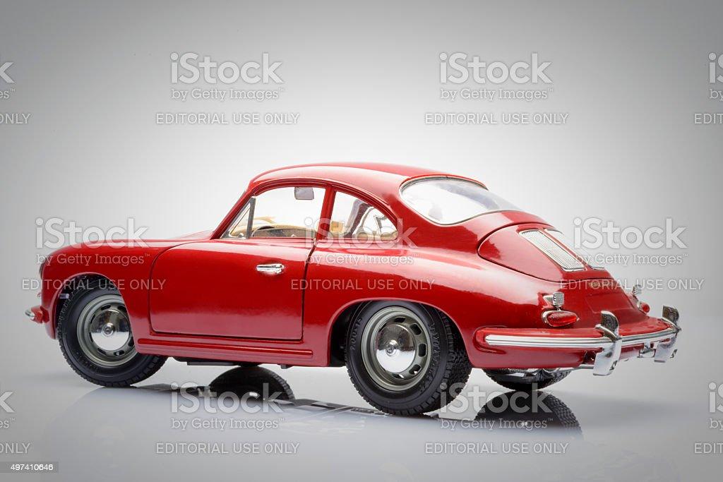 Porsche 356 classic sports car model stock photo