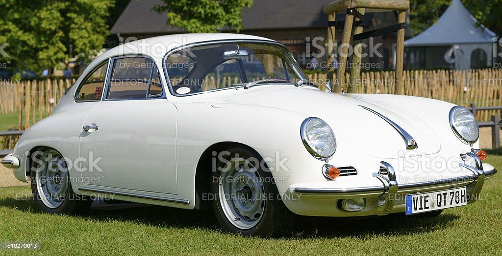 Porsche 356 classic sports car stock photo