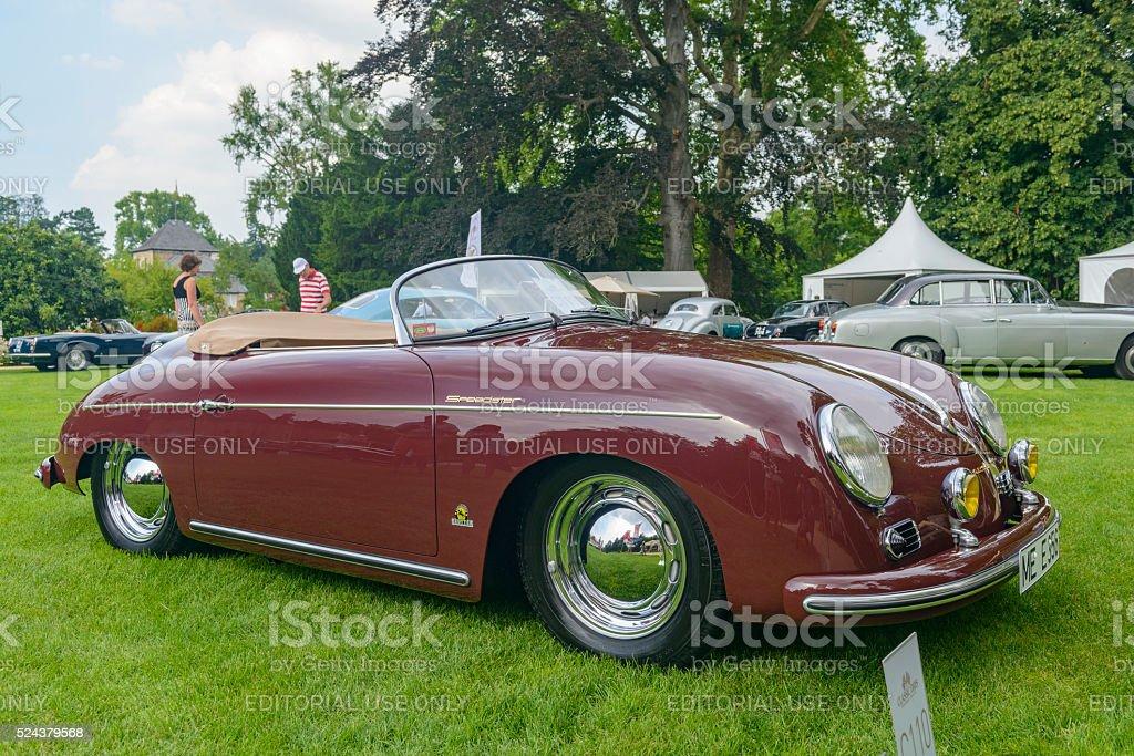Porsche 356 Speedster classic sports car stock photo