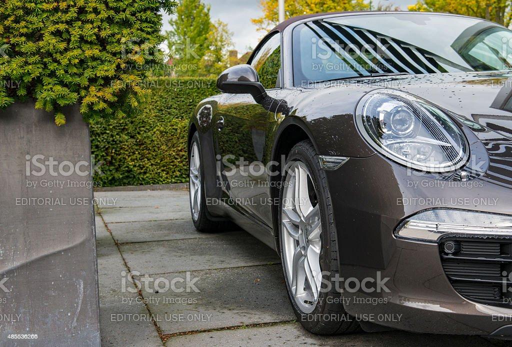 Porsche 911 991 Carrera Convertible sports car stock photo