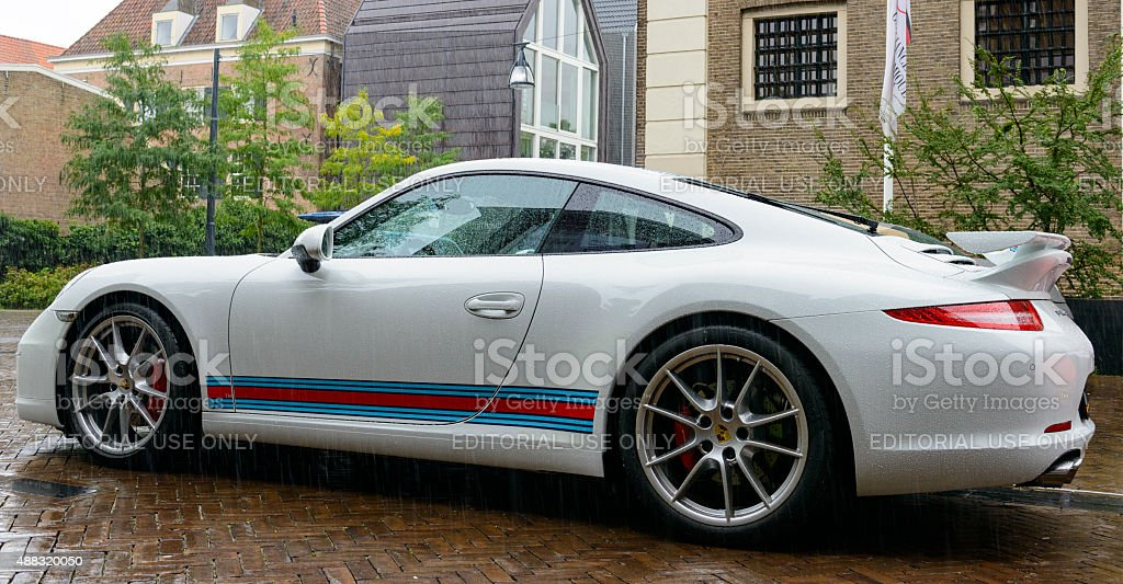 Porsche 911 Carrera S rear view stock photo