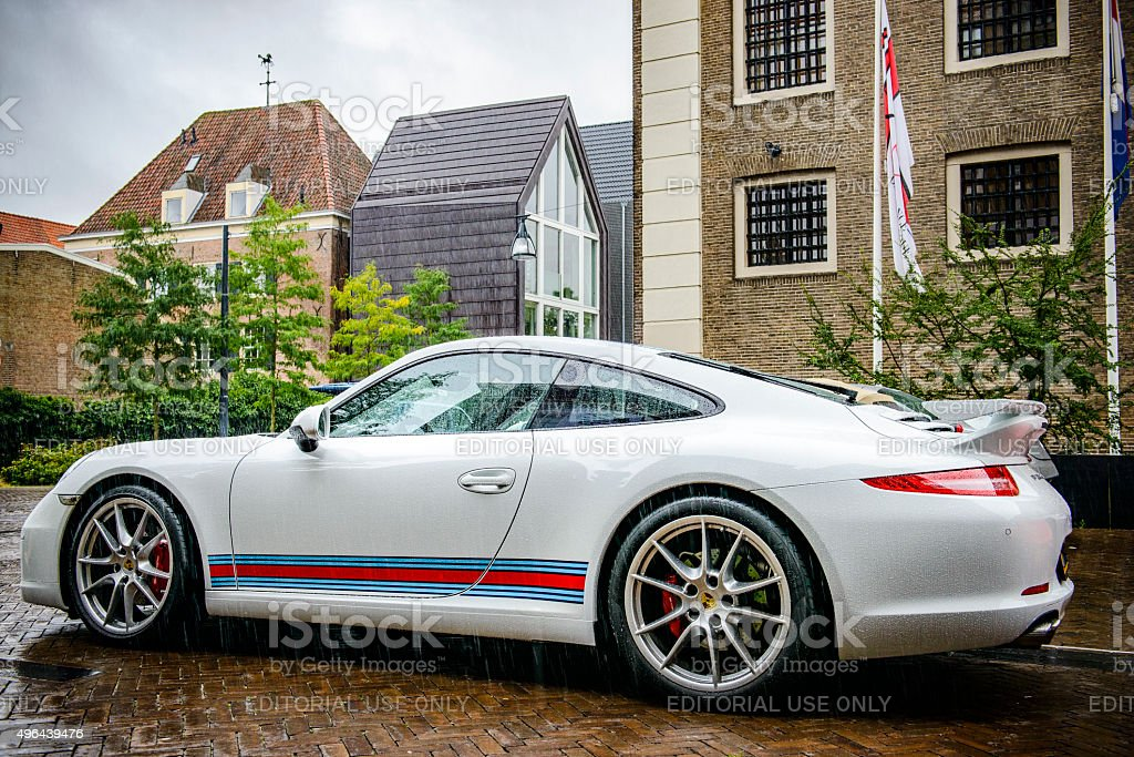 Porsche 911 Carrera S sports car stock photo